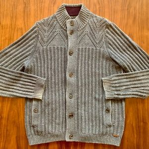 Chunky Cable Knit Cardigan Button Up Sweater